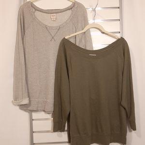 2 Lightweight Sweatshirts     (187)
